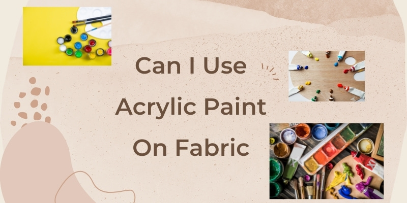 fabric painting with acrylic colours